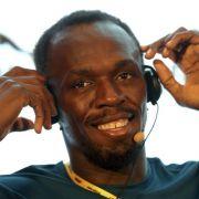 Der gutgelaunte Sprint-Star Usuain Bolt in China.