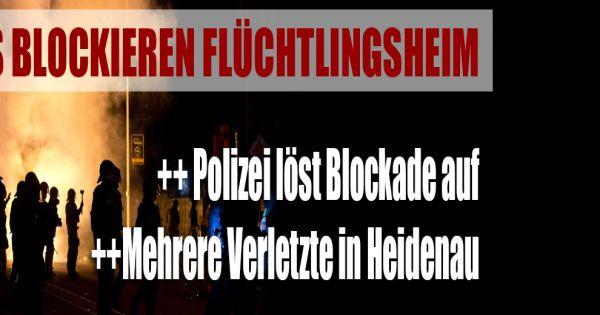 asylunterkunft in heidenau nazi blockade vor fl chtlingsheim 31 polizisten verletzt. Black Bedroom Furniture Sets. Home Design Ideas