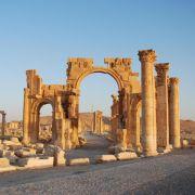 Weltkulturerbe in Palmyra weggesprengt (Foto)