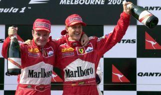 Michael Schumacher (r) wurde ins Dream Team der Formel 1 gewählt. (Foto)