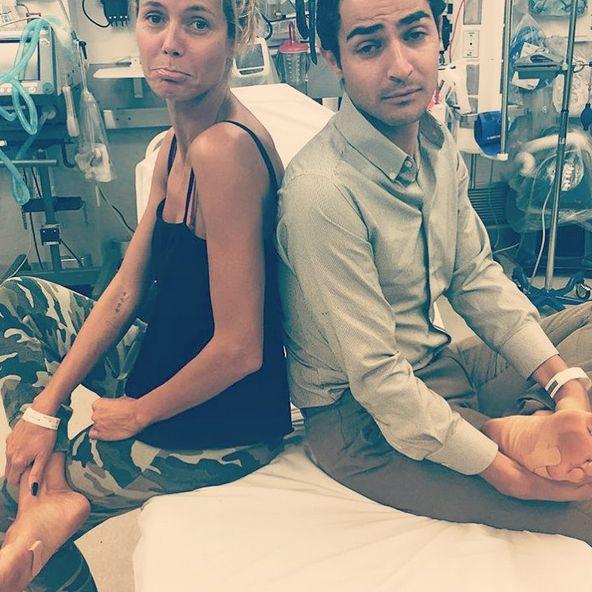 Nach einem Fehltritt landet sie im Krankenhaus (Foto)
