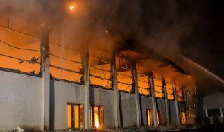 Angehende Flüchtlingsunterkunft in Nauen ausgebrannt: Die Polizei vermutet Brandstiftung. (Foto)