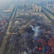 23 Festnahmen nach Explosionsunglück in Tianjin (Foto)