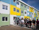 Wohncontainer-Unterkunft für Flüchtlinge in Berlin: Hier sollen 300 Asylbewerber einziehen. (Foto)