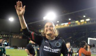Nadine Angerer hat das wohl letzte Fußballspiel in ihrer glanzvollen Karriere bestritten. (Foto)
