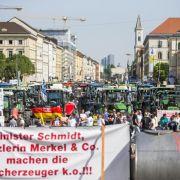 Tausende Milchbauern protestieren in München (Foto)
