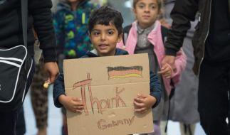 Flüchtlinge in Ungarn. (Foto)