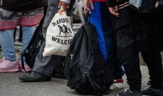 Flüchtlinge am Hauptbahnhof München. (Foto)