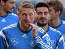 Von links: Mats Hummels, Bastian Schweinsteiger, Ilkay Gündogan und Thomas Müller in der Ausrüstung des DFB-Sponsors Adidas. (Foto)