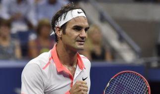 Auch Roger Federer steht im Halbfinale der US Open. (Foto)