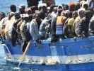 Boot mit Flüchtlingen. (Foto)