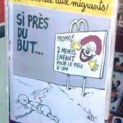 """Charlie Hebdo"" verhöhnt ertrunkenes Flüchtlingskind Aylan (Foto)"