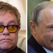 Telefonierte Elton John mit Wladimir Putin? (Foto)