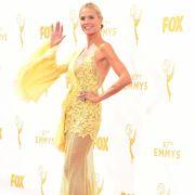 Wenn ich ein Vöglein wär...Heidi Klums Kleid erinnerte das US-Magazin