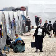 Syrische Flüchtlinge in einem türkischen Notzeltlager im Januar 2015.