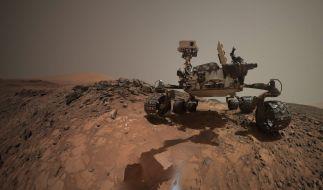 """Der Mars-Roboter """"Curiosity"""" während seiner Mission. (Foto)"""