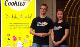 """Silvio und Maren Lubenow präsentieren ihre Mind Cookies in """"Die Höhle der Löwen"""". (Foto)"""