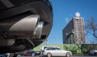Der Auspuff eines VW Passat ist vor dem Volkswagen Werk in Wolfsburg zu sehen. Der Passat der siebten Generation ist von dem Abgas-Skandal betroffen. (Foto)