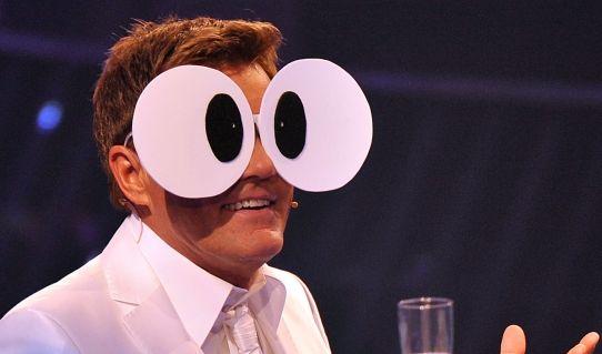 Da macht er große Augen! Dieter Bohlen bei der Aufzeichnung der Castingshow