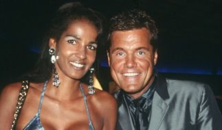 Dieter Bohlen 1999 mit seiner Naddel bei der Verleihung der World Music Awards in Monte Carlo. (Foto)