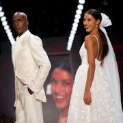 Bruce Darnell im Hochzeitslook mit Rebecca Mir - allerdings nur für die Fashion Week in Berlin. (Foto)