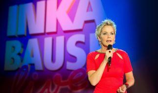 """Die Moderatorin Inka Bause steht in ihrer MDR-Show """"Inka Bause Live"""" auf der Bühne. (Foto)"""