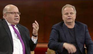 Herbert Grönemeyer und Peter Altmaier im Streitgespräch. (Foto)