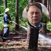 Bayerischen Forstminister verursacht versehentlich Waldbrand (Foto)