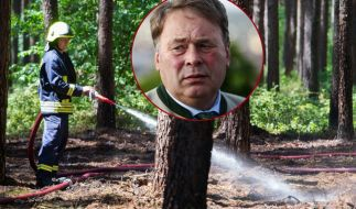 Bayerns Forstminister Helmut Brunner hat versehentlich im Wald gezündelt. (Foto)