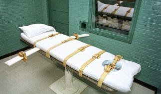 In den USA ist die Giftspritze zur Hinrichtung vorgesehen. Das Bild zeigt die Todeskammer in einem Texanischen Gefängnis. (Foto)