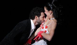 """Model Rebecca Mir und Tänzer Massimo Sinató tanzten in der RTL-Tanzshow """"Let's Dance"""". (Foto)"""