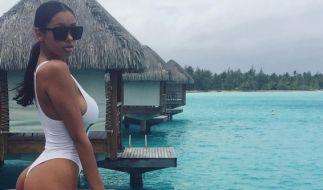 Sexy Einteiler: Dieses Foto von ihrem Luxus-Urlaub mit Sänger Justin Bieber postete Jayde Pierce auf Instagram. (Foto)