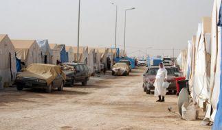 Flüchtlingsunterkünfte im Nordirak. (Foto)