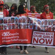 Nigerianer erinnern im April 2015 an die 200 Schulmädchen, die Boko Haram ein Jahr zuvor gekidnappt hatte.