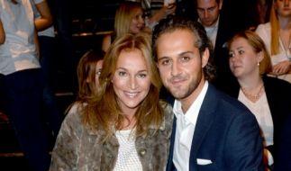 Caroline Beil und ihr Freund Philipp Sattler am 20.01.2015 bei der Mercedes-Benz Fashion Week in Berlin. (Foto)