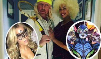 Boris Becker und seine Frau Lilly sind schon voll im Kostüme-Fieber. Auch Sylvie Meis und Heidi Klum sind echte Halloween-Fans. (Foto)
