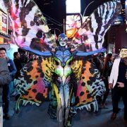 Heidi Klum verwandelte sich an Halloween 2014 in einem Riesenschmetterling.
