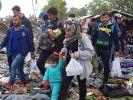 Am Wochenende könnten 350.000 syrische Flüchtlinge die Türkei erreichen. (Foto)