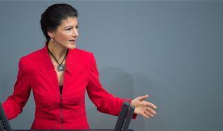 Sahra Wagenknecht (Die Linke) erinnerte schon Anfang des Jahres mit manchen Aussagen an die Parolen der AfD. (Foto)