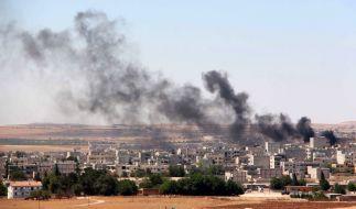 In Italien herrscht Panik: Könnte der Islamische Staat durch ein Schlupfloch auf Sizilien in das Land einfallen? Das Foto zeigt die Stadt Kobane in Syrien nach einem Anschlag des IS. (Foto)