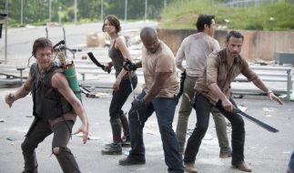 """Die Gruppe um Rick muss sich auch in der 6. Staffel von """"The Walking Dead"""" nicht nur dem Kampf gegen die Zombies stellen. (Foto)"""