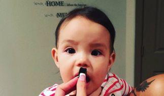 Dieses Foto ihrer Tochter Isabella postete Tila Tequila unlängst auf Instagram. (Foto)