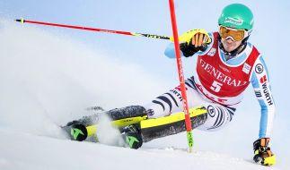 Felix Neureuther während seines Slalom-Rennens beim alpinen Ski-Weltcup 2014 in Schweden. (Foto)