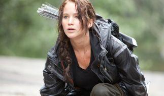 Jennifer Lawrence alias Katniss Everdeen im Kampf ums Überleben. (Foto)
