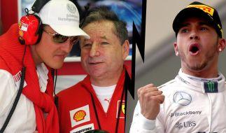 Während Jean Todt Hoffnung macht, lästert Lewis Hamilton über Michael Schumacher. (Foto)