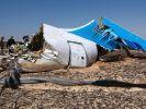Wrackteile des russischen Flugzeugs, welches in der Sinai-Wüste abstürzte. (Foto)