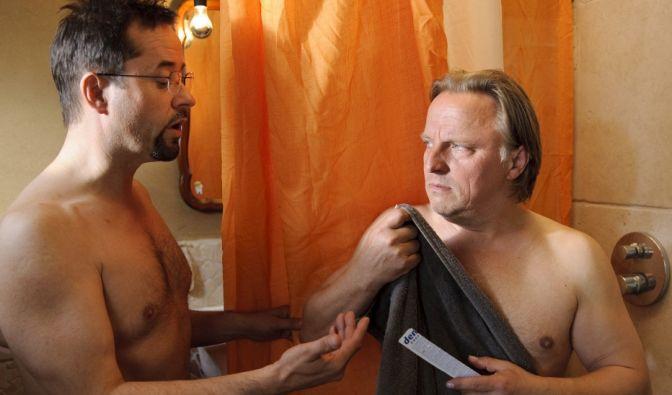Boerne (Jan Josef Liefers, l.) und Thiel (Axel Prahl) sind nun wirklich keine Warmduscher. (Foto)
