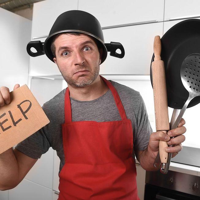 Rührei wird zum Problem - Jeder 3. Mann kann nicht kochen (Foto)