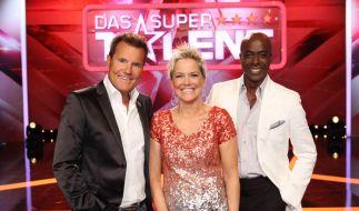 Die Supertalent-Jury: Dieter Bohlen, Inka Bause und Bruce Darnell. (Foto)