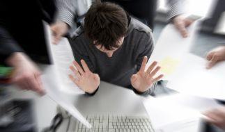 Vielen fällt es schwer, Stress im Job zu vermeiden. (Foto)